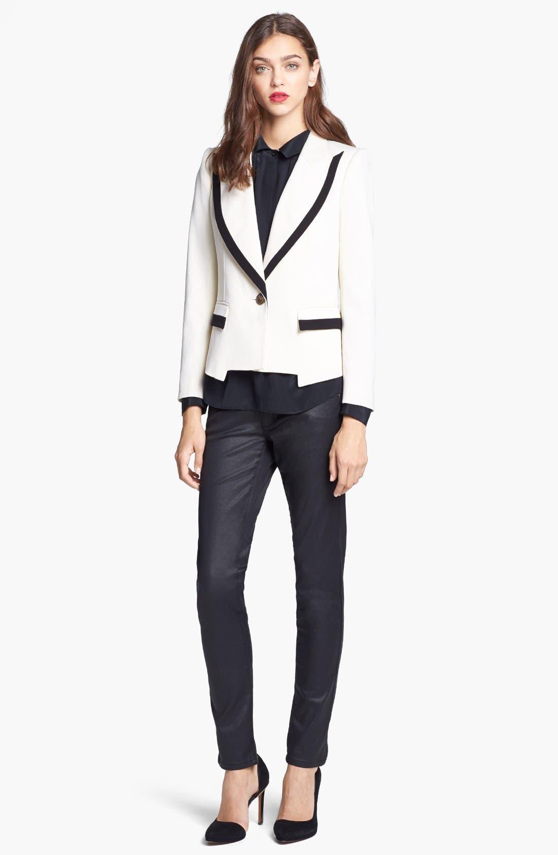 Alternate Image 3  - Rachel Zoe 'Foster' Peak Lapel Single Button Jacket