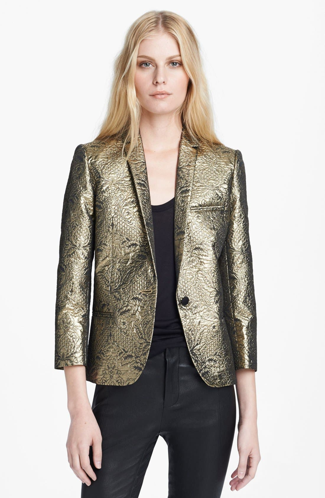 Alternate Image 1 Selected - Zadig & Voltaire 'Volta' Metallic Brocade Jacket
