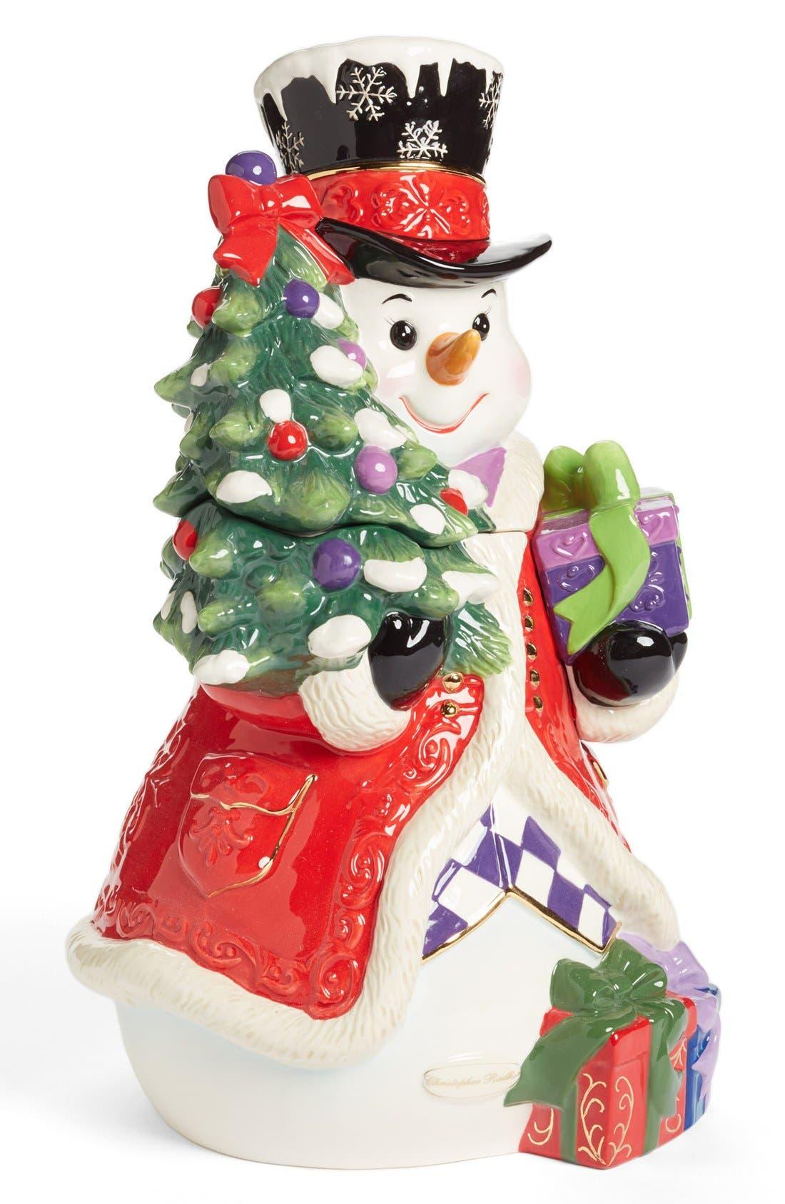Main Image - Christopher Radko 'Stately Snowman' Cookie Jar