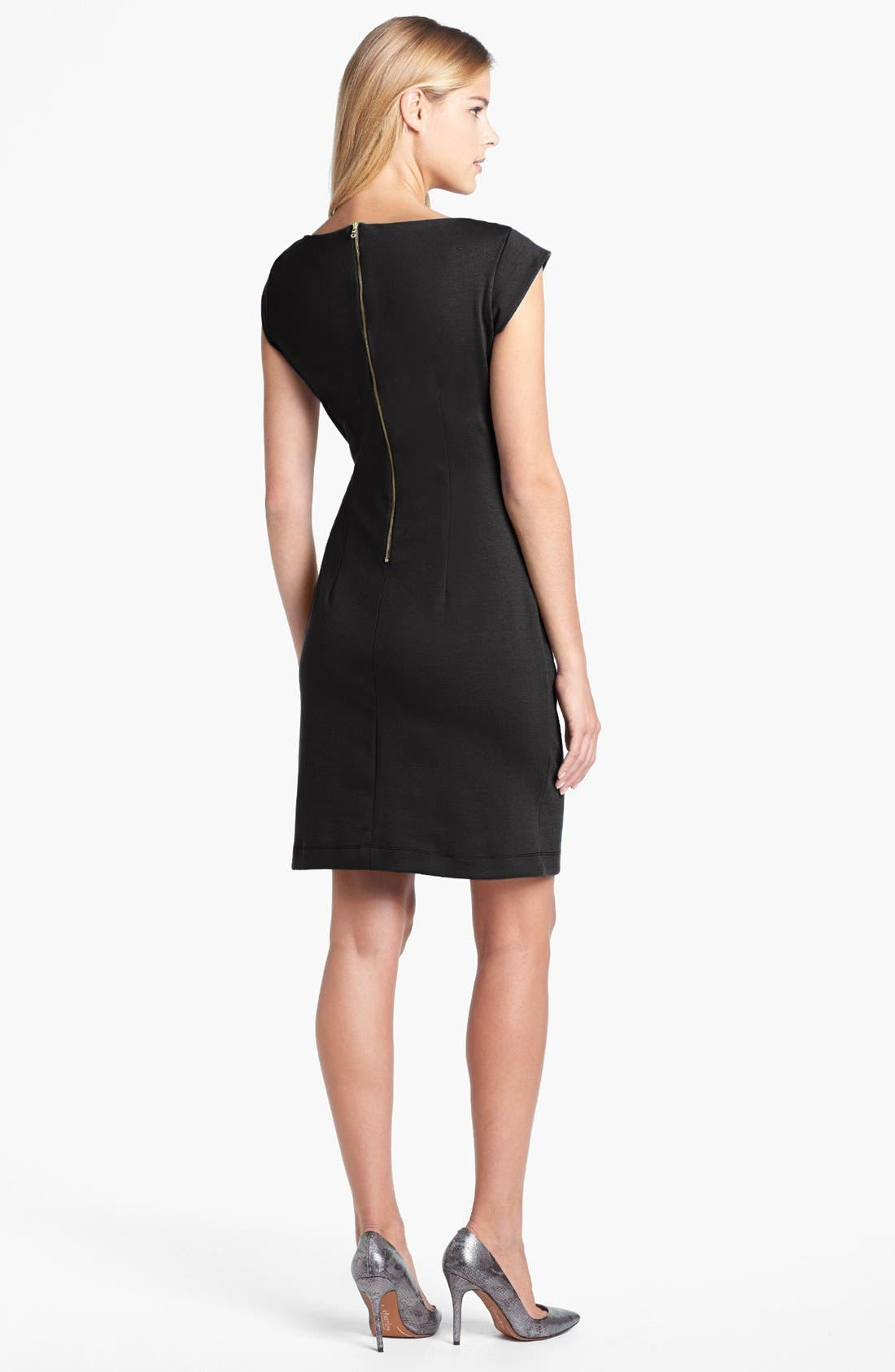 Alternate Image 2  - Taylor Dresses Cowl Neck Sheath Dress