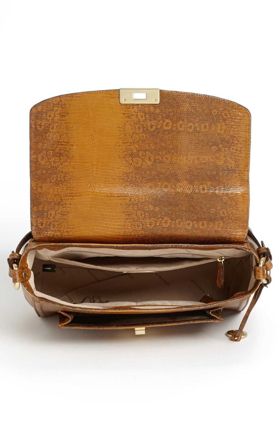 Alternate Image 3  - Brahmin 'Oxford' Lizard Embossed Flap Satchel