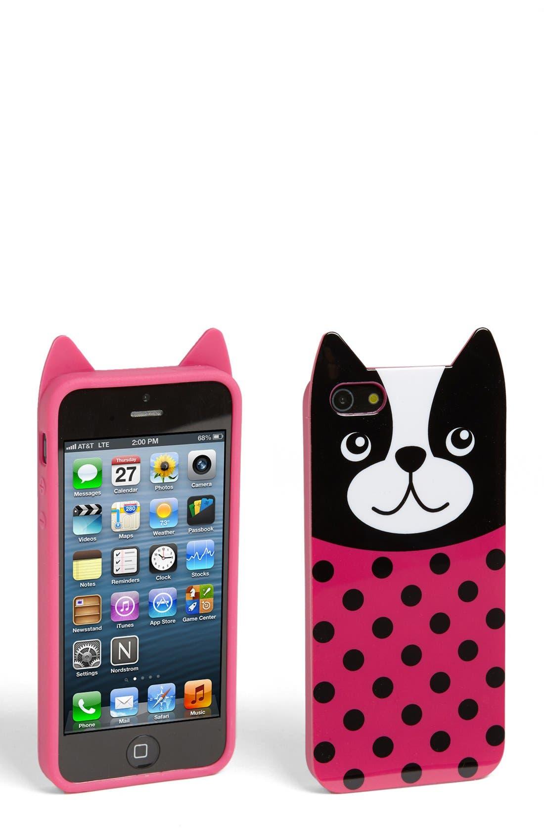 Alternate Image 1 Selected - Capelli of New York 'Billy Bulldog' iPhone 5 Case (Juniors)