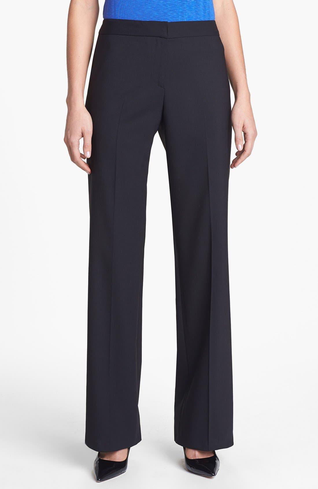 Alternate Image 1 Selected - Santorelli 'Mara' Stretch Wool Trousers