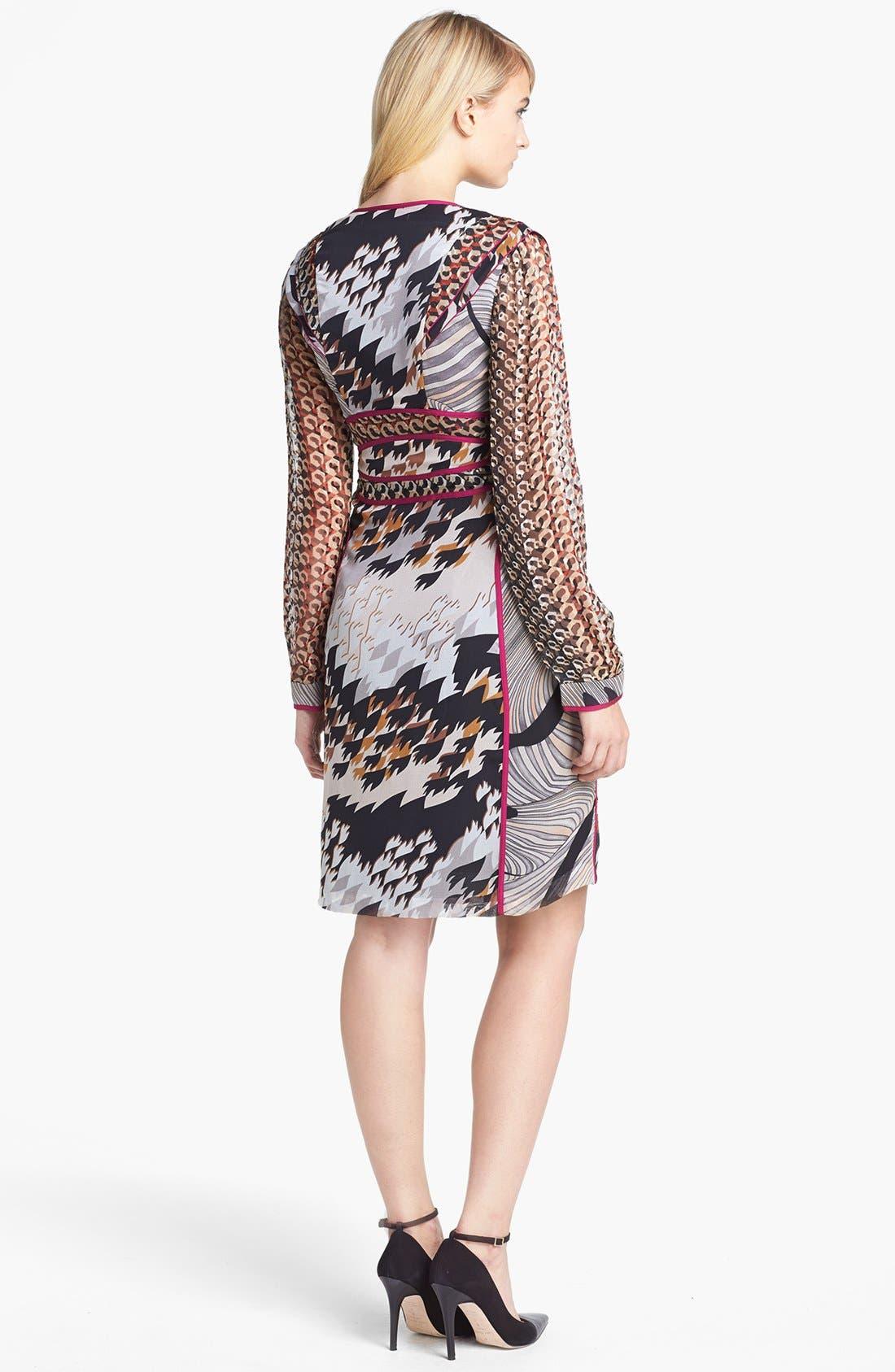 Alternate Image 2  - Diane von Furstenberg 'Poesie' Silk A-Line Dress
