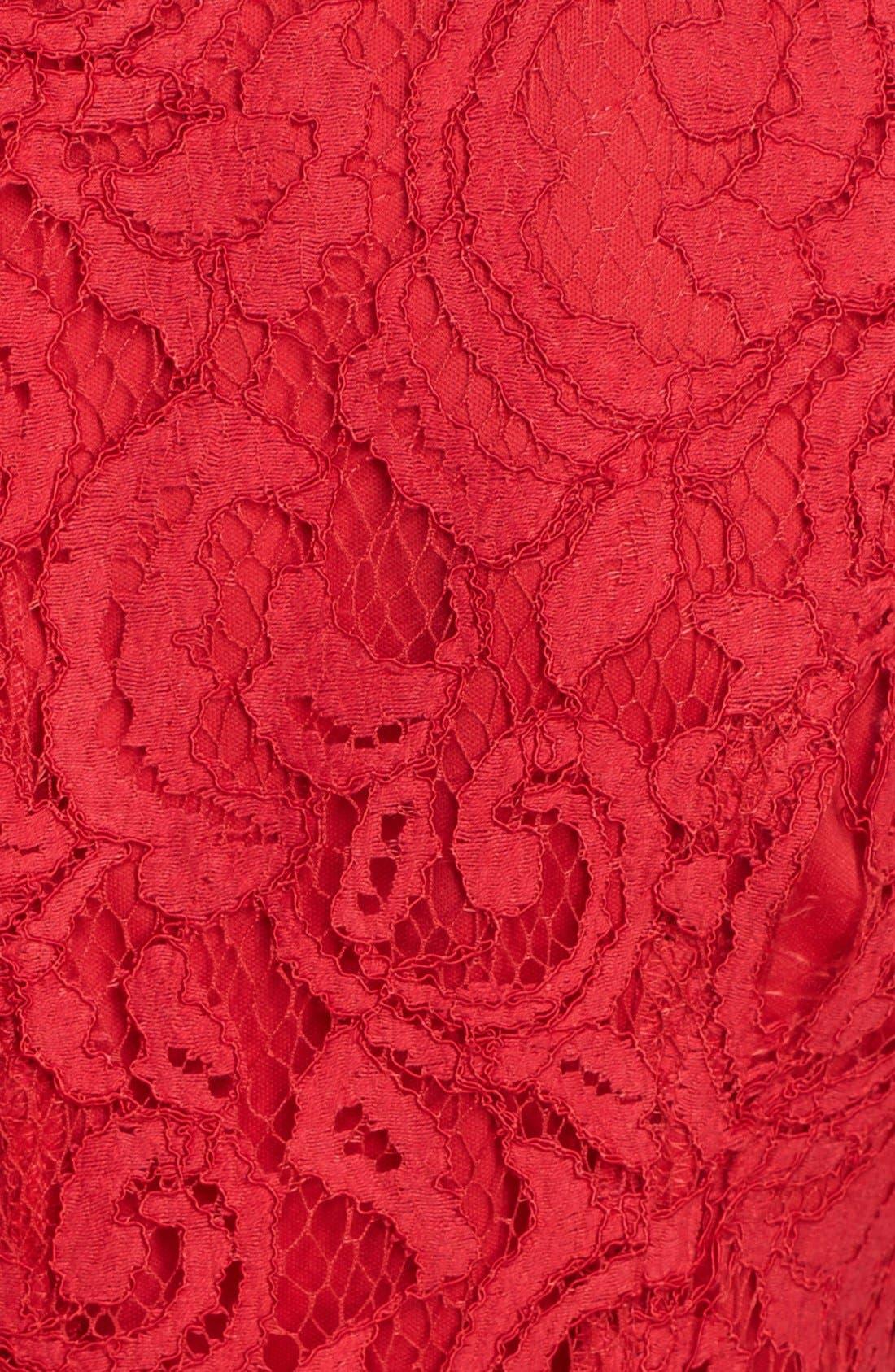 Alternate Image 3  - Ellen Tracy Lace Fit & Flare Dress (Regular & Petite)