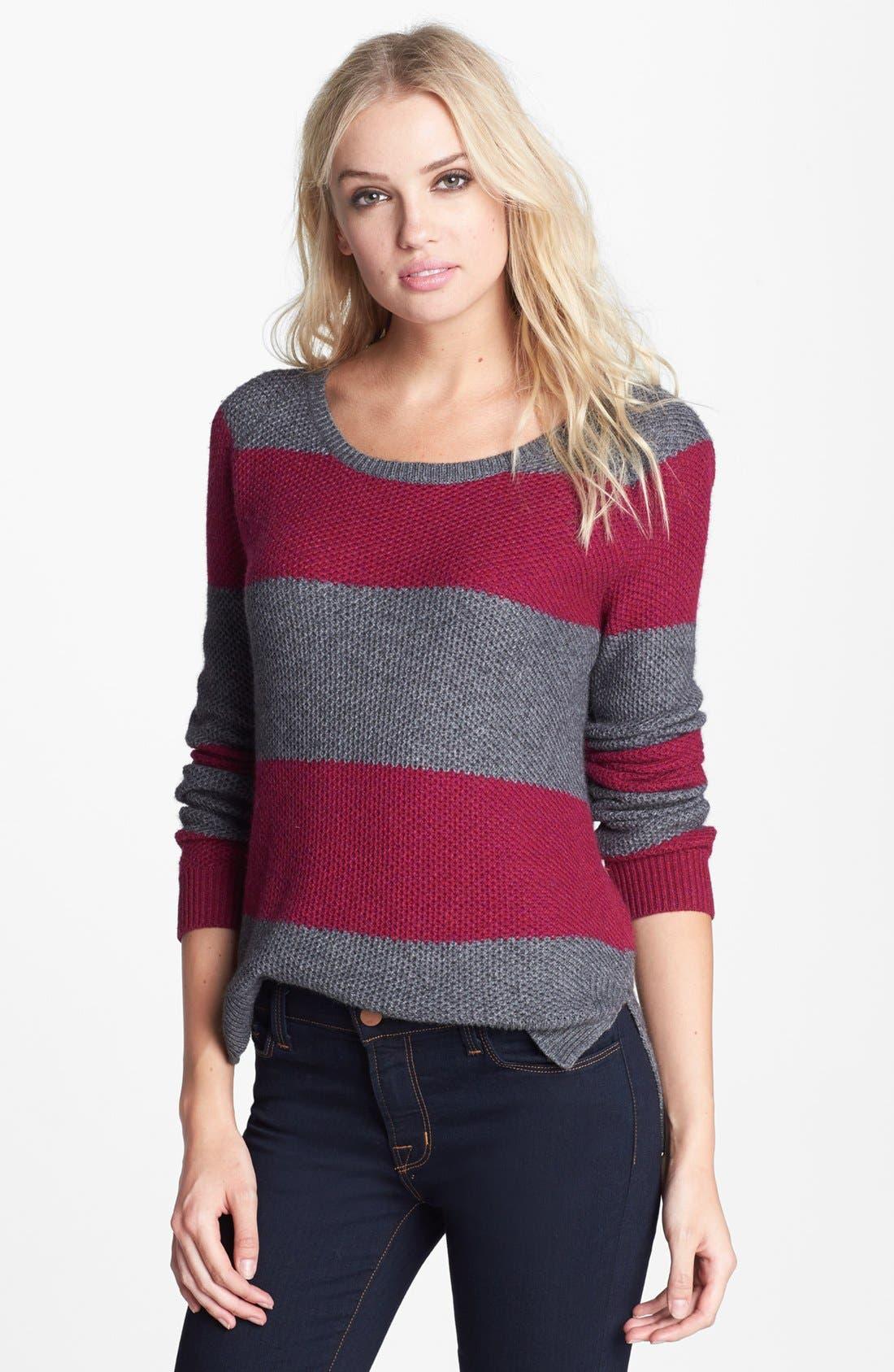 Alternate Image 1 Selected - Splendid 'Honeycomb' Stripe Pullover