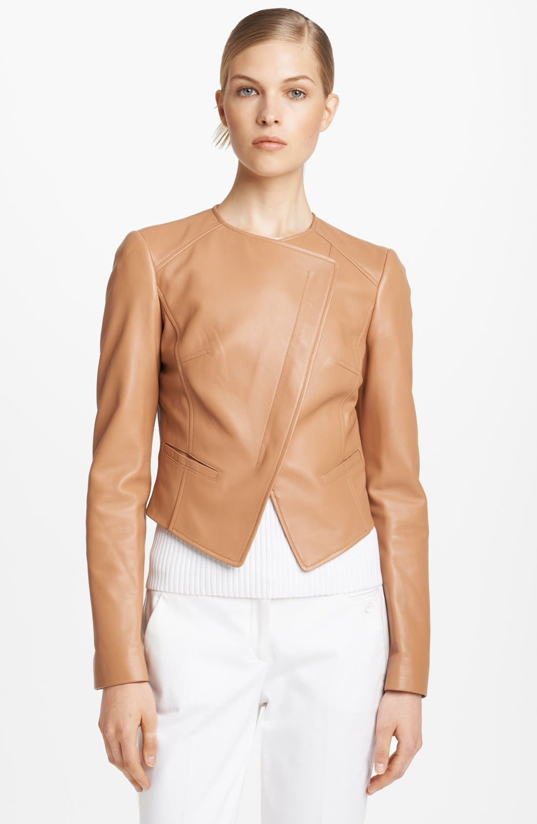 Alternate Image 1 Selected - Michael Kors Plonge Leather Jacket