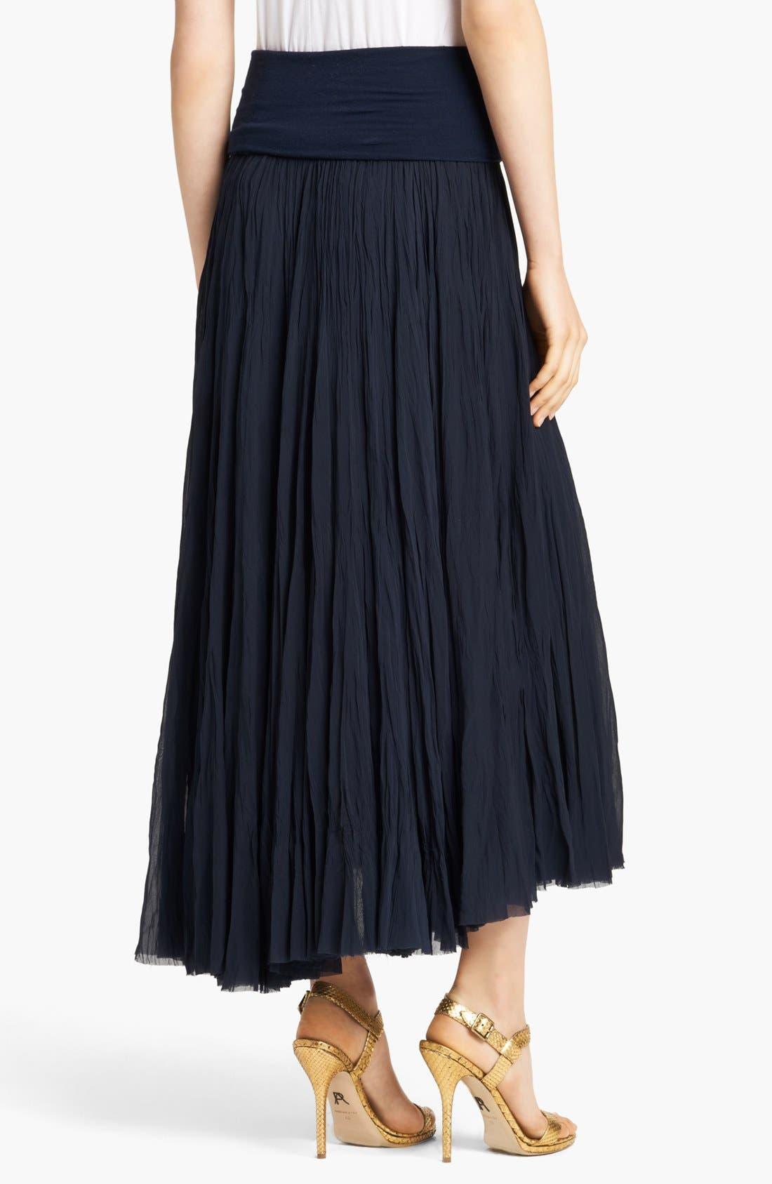 Alternate Image 2  - Donna Karan Casual Luxe Silk Georgette Midi Skirt