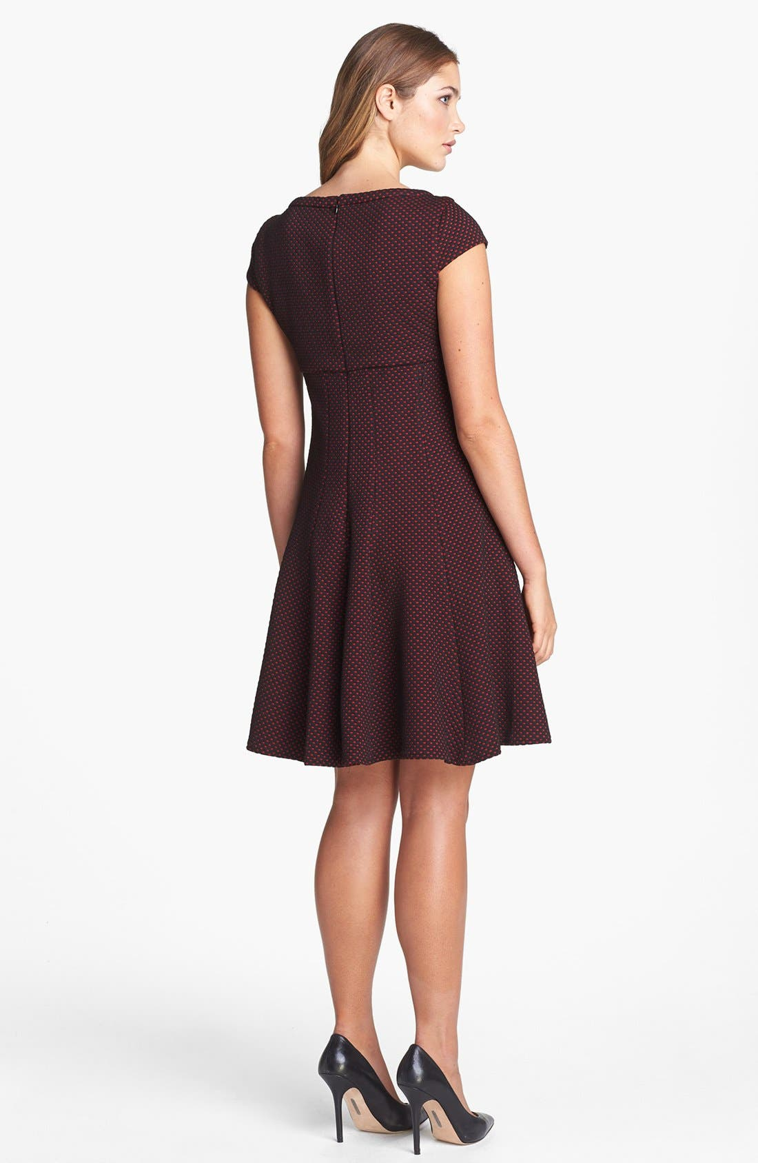 Alternate Image 2  - Taylor Dresses Dot Pattern Fit & Flare Dress