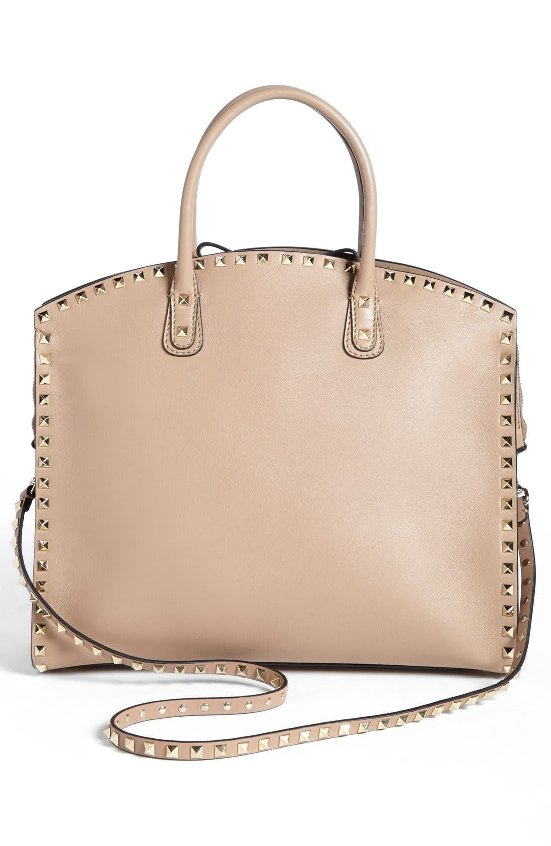 Alternate Image 4  - Valentino 'Rockstud' Leather Dome Satchel