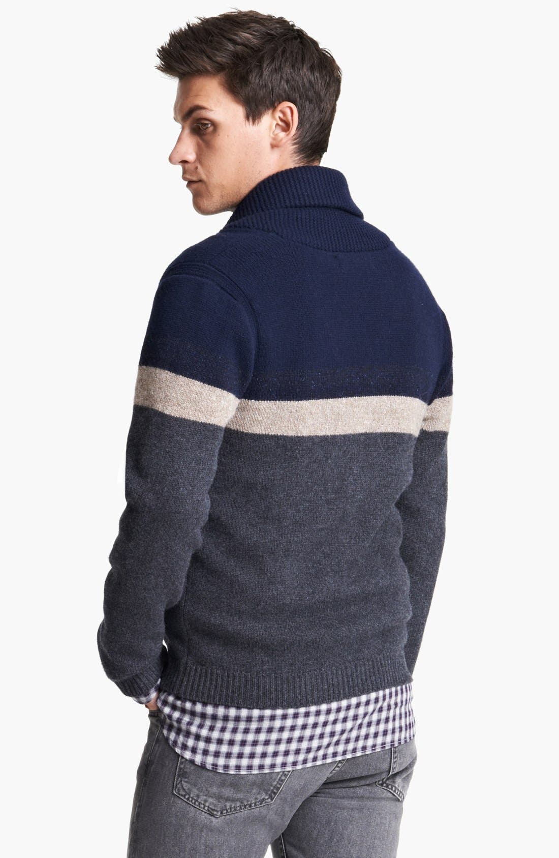 Alternate Image 2  - rag & bone 'Teddy' Shawl Cardigan