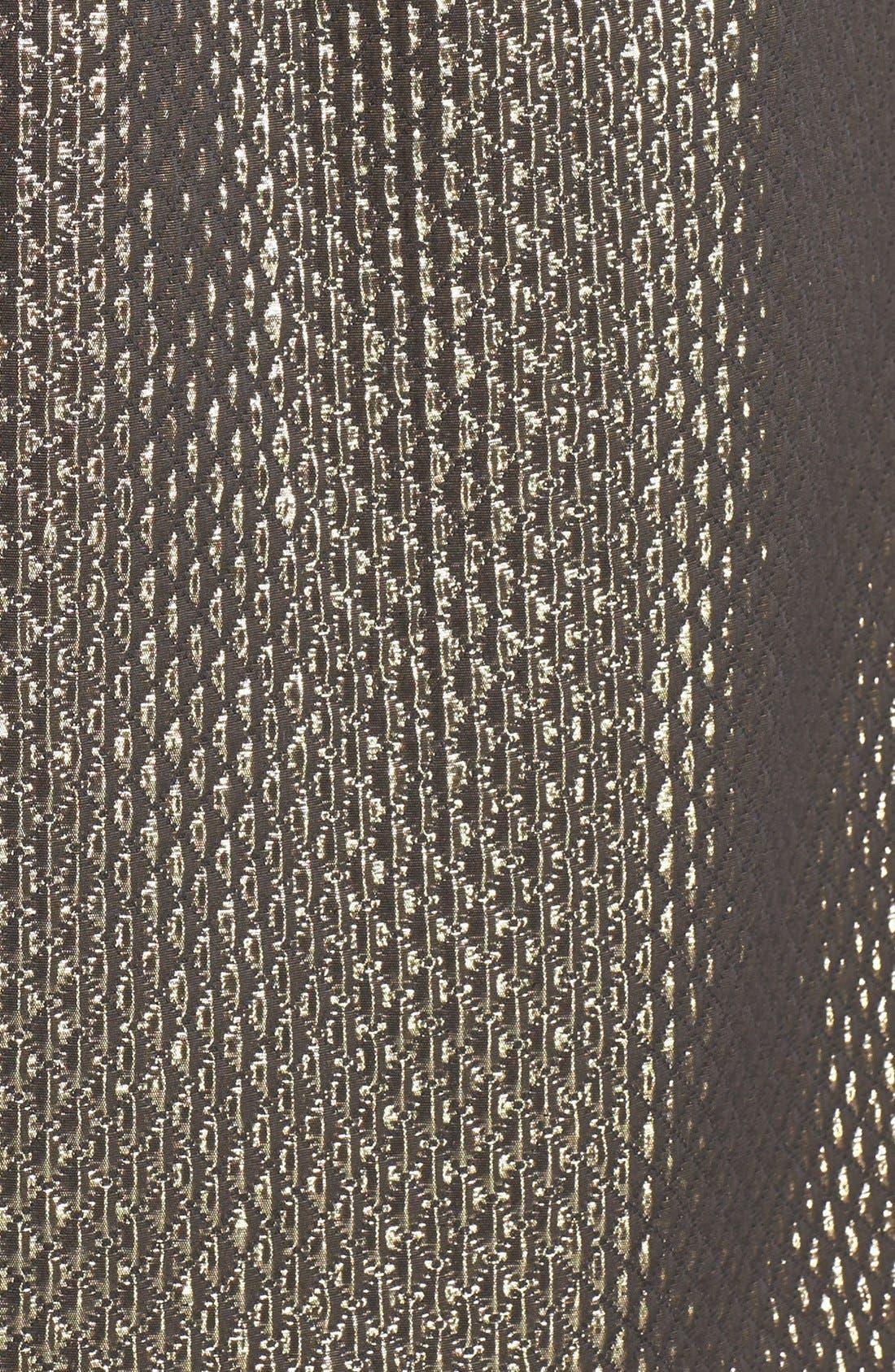 Alternate Image 3  - Ivy & Blu Metallic Jacquard Fit & Flare Dress