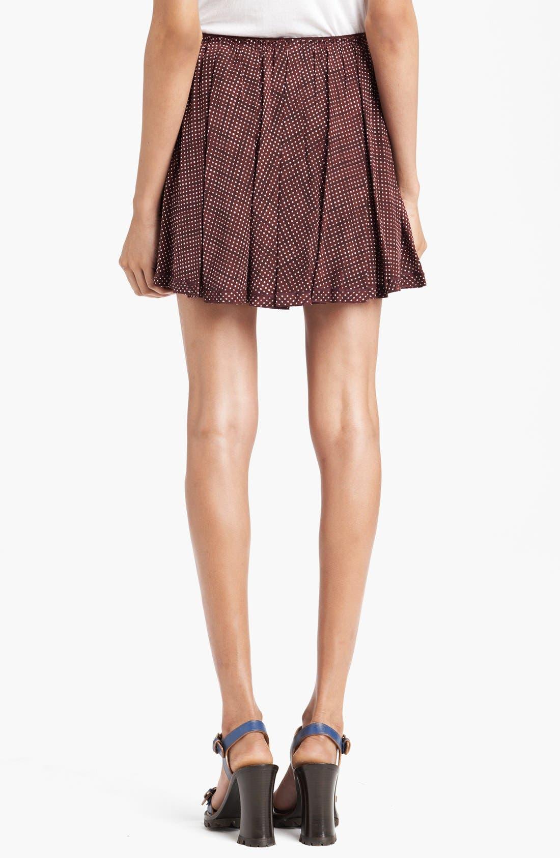 Alternate Image 2  - MARC JACOBS Pleated Silk Crepe Miniskirt