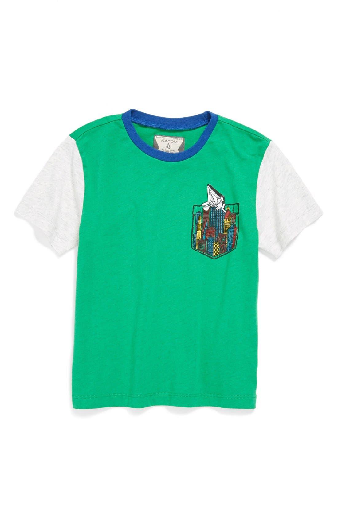 Main Image - Volcom 'Hang On' Crewneck T-Shirt (Toddler)