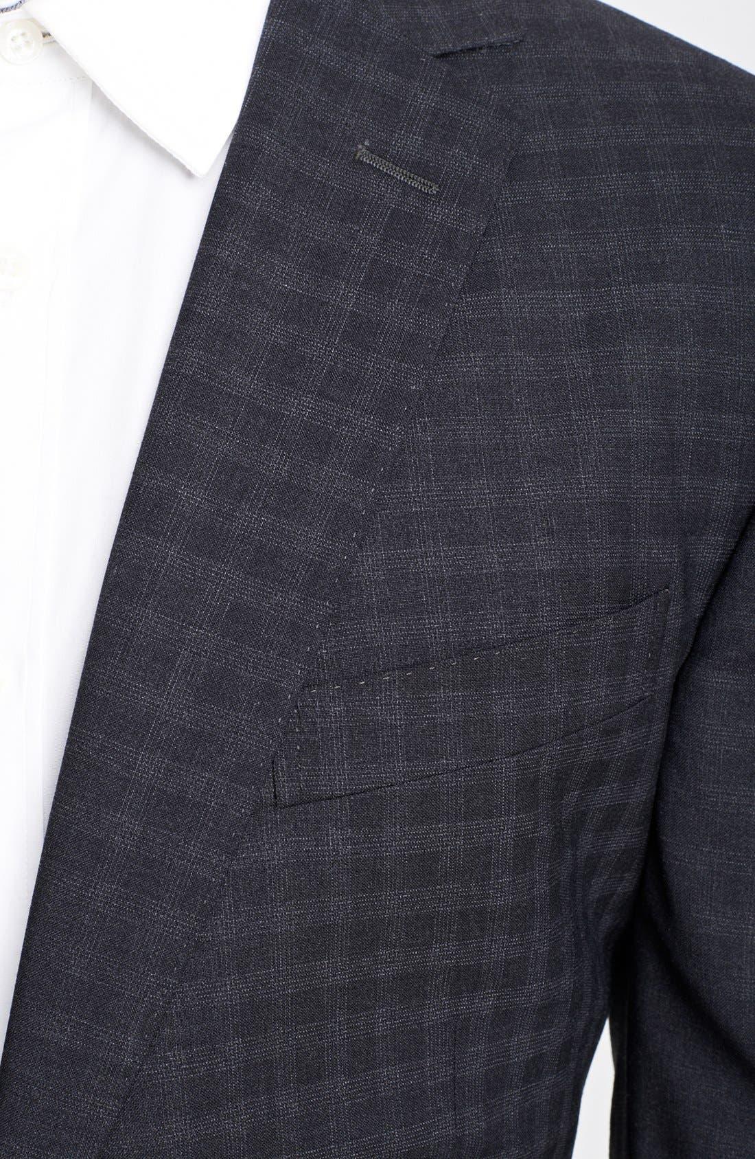 Alternate Image 2  - Z Zegna 'City' Dark Grey Check Wool Suit