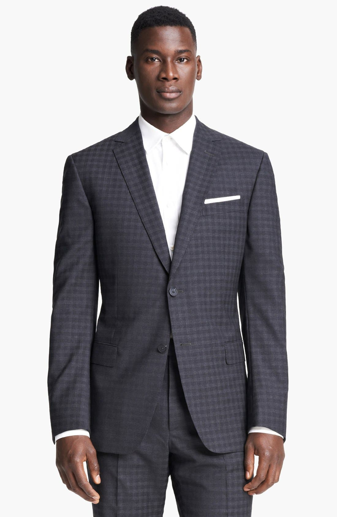 Alternate Image 4  - Z Zegna 'City' Dark Grey Check Wool Suit