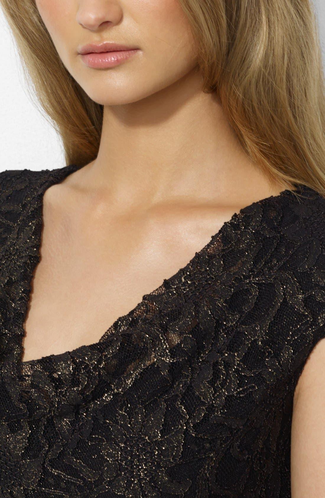 Alternate Image 3  - Lauren Ralph Lauren Metallic Lace Sheath Dress