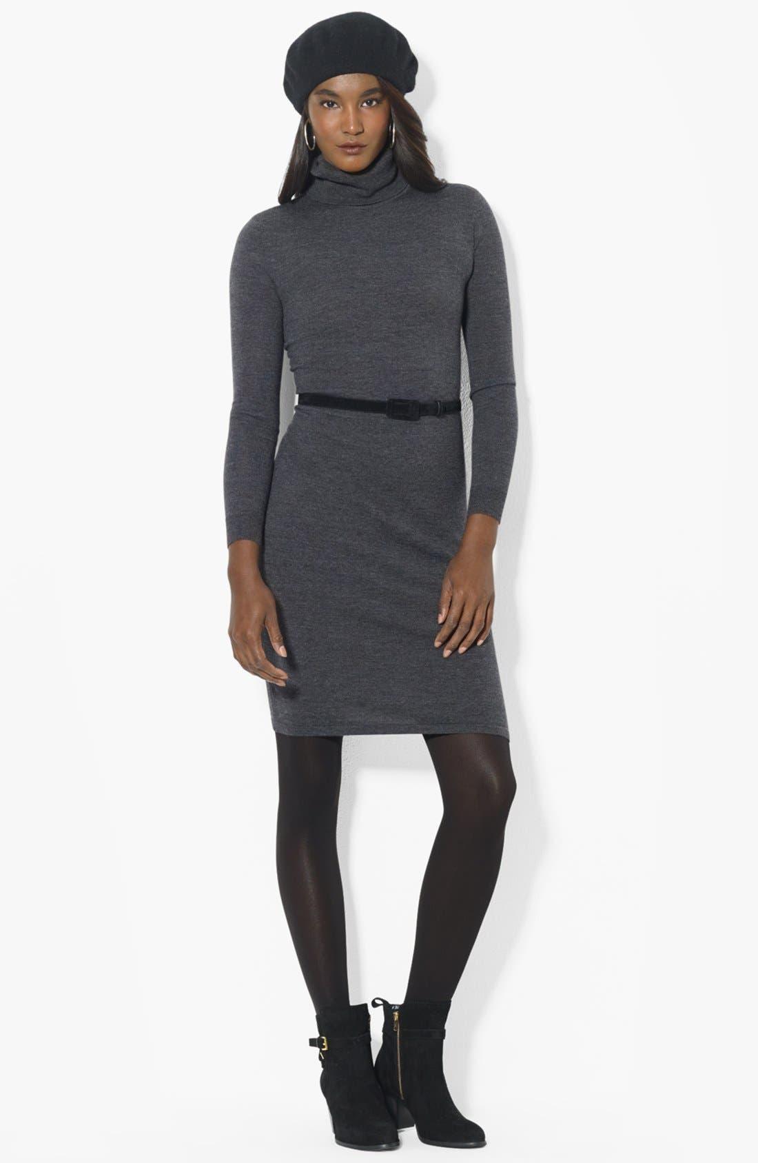 Alternate Image 1 Selected - Lauren Ralph Lauren Turtleneck Sweater Dress
