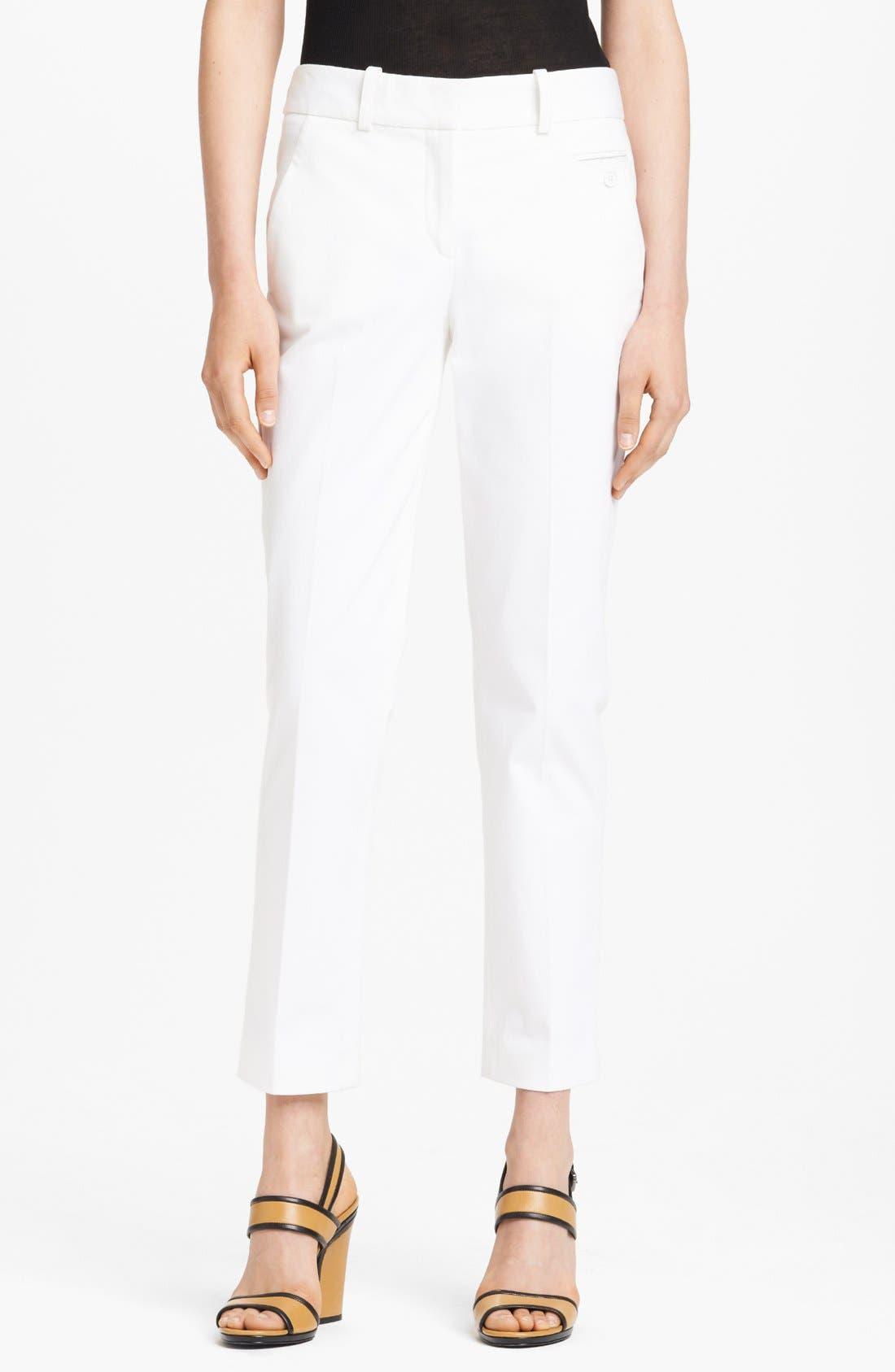 Alternate Image 1 Selected - Michael Kors 'Samantha' Skinny Sateen Pants