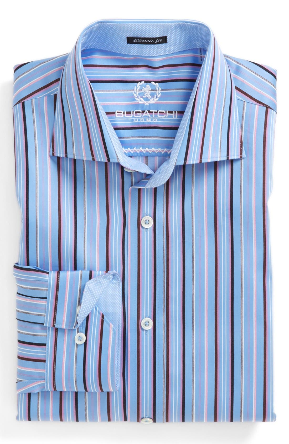 Alternate Image 2  - Bugatchi Classic Fit Stripe Sport Shirt