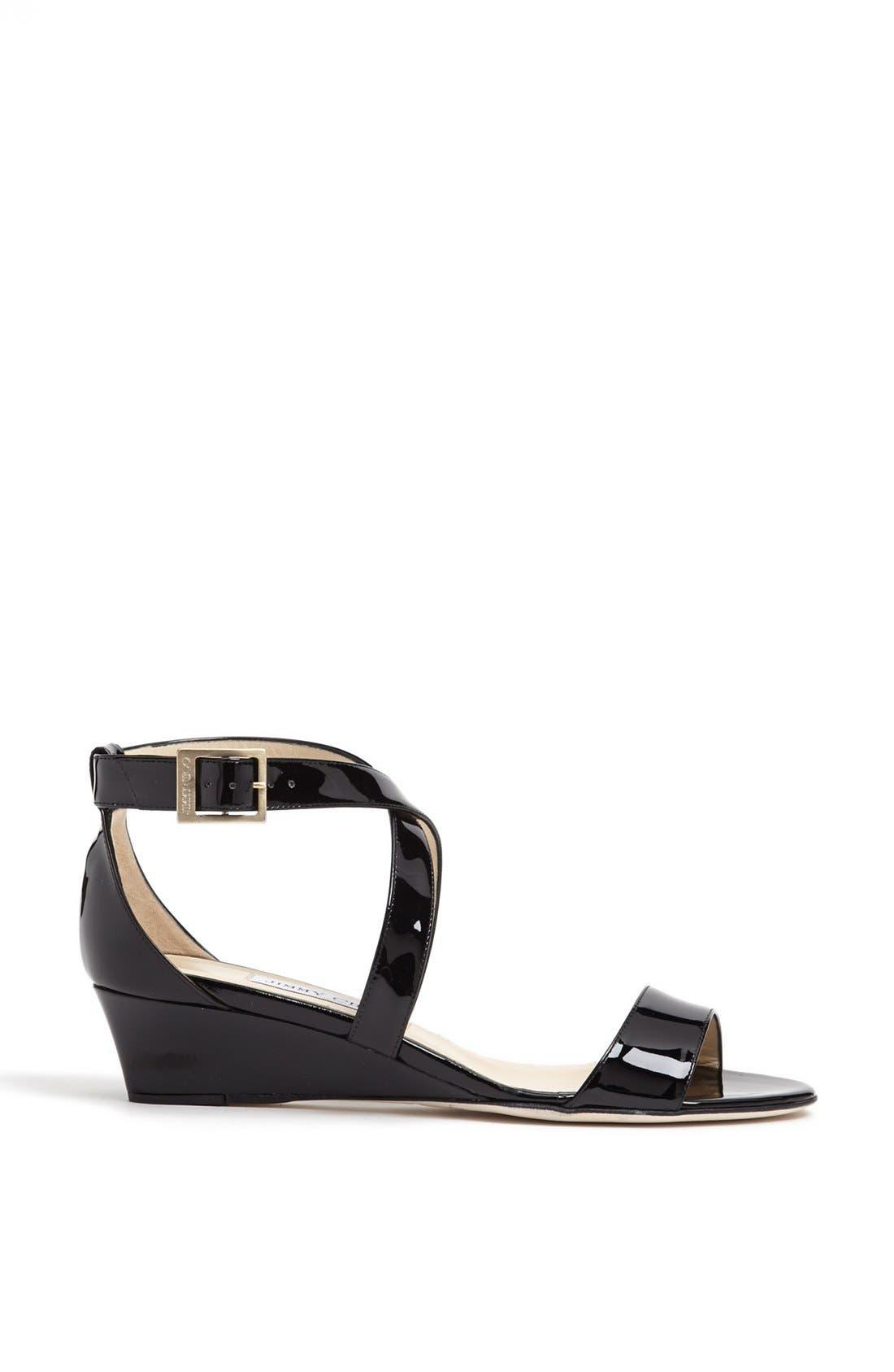 Alternate Image 4  - Jimmy Choo 'Chiara' Strap Wedge Sandal (Women)
