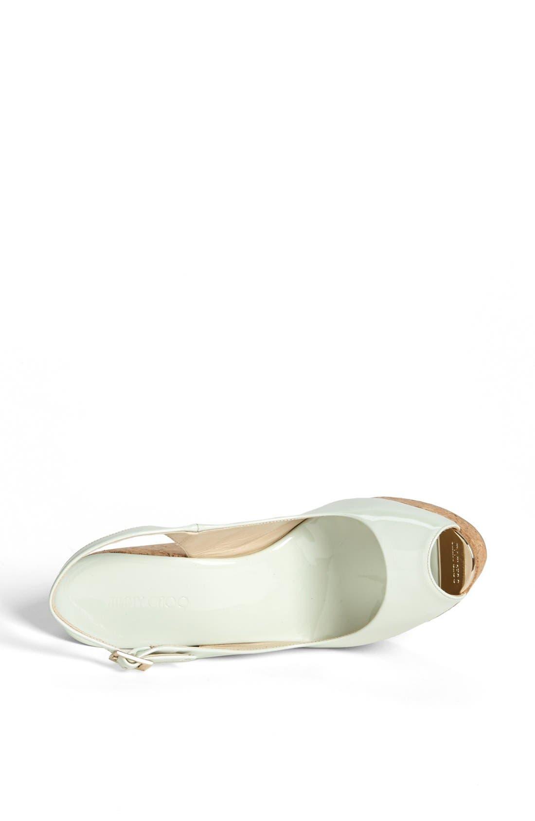 Alternate Image 3  - Jimmy Choo 'Prova' Cork Slingback Wedge Sandal