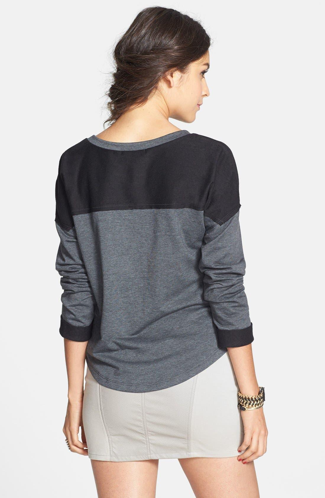 Alternate Image 2  - Lush Faux Leather Panel Miniskirt (Juniors) (Online Only)