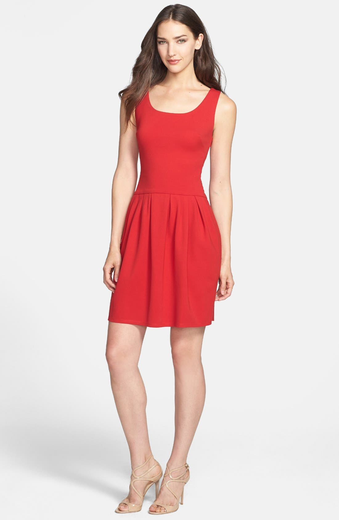 Main Image - Betsey Johnson Bow Detail Ponte Fit & Flare Dress