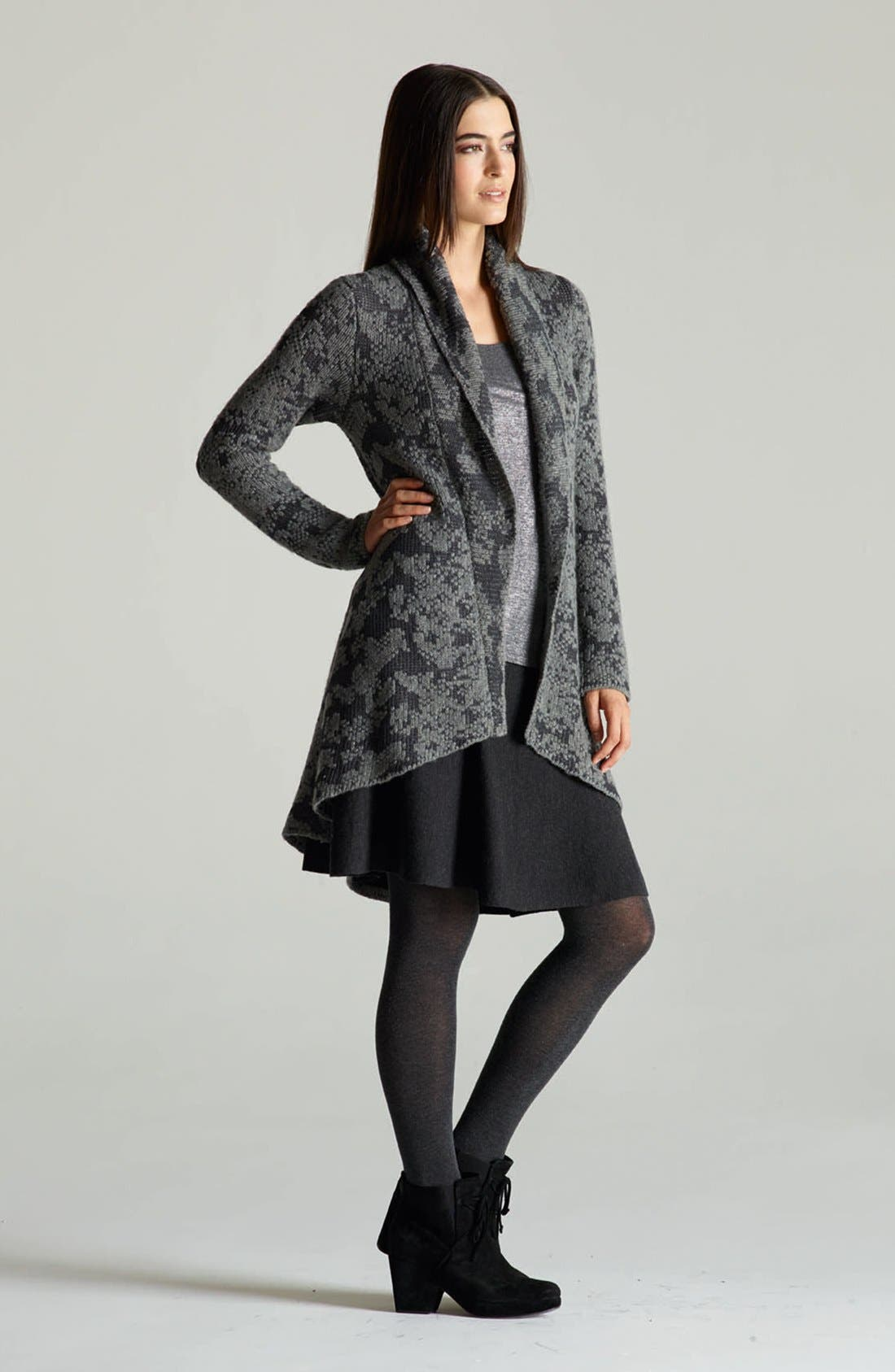 Alternate Image 5  - Eileen Fisher Open Front Shawl Collar Cardigan