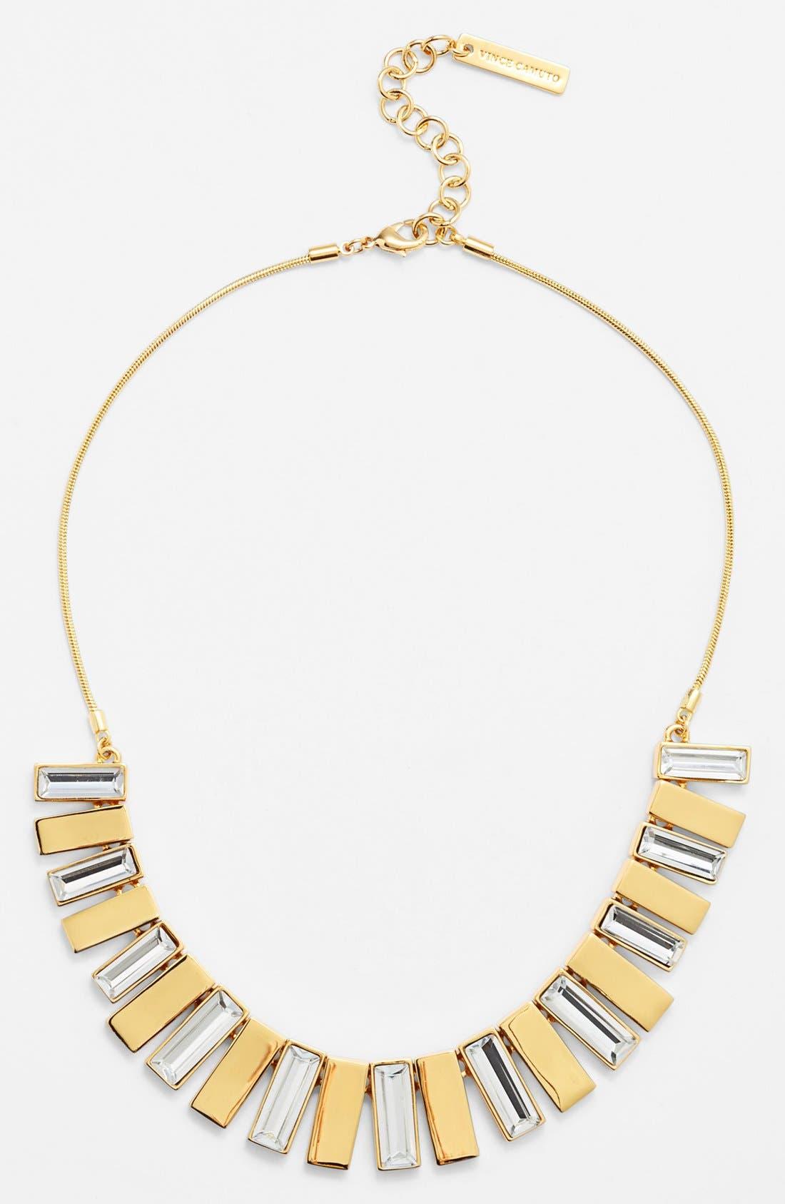 Alternate Image 2  - Vince Camuto 'Crystal Clear' Baguette Crystal Bib Necklace