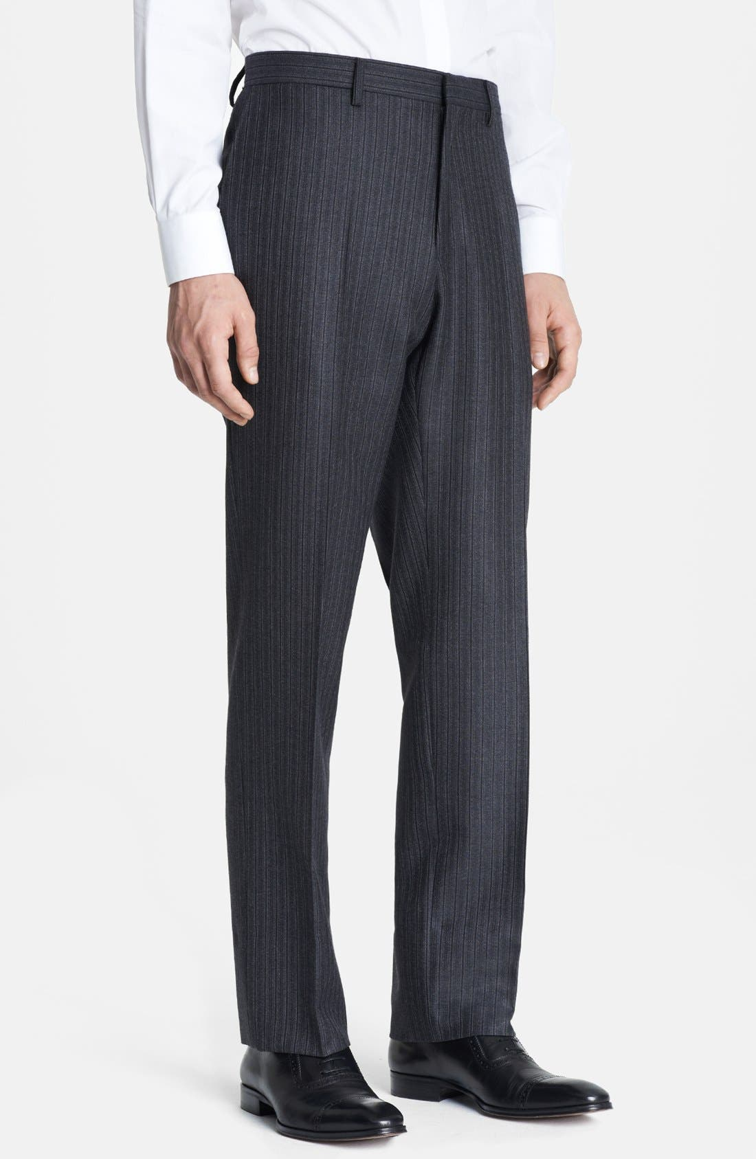 Alternate Image 5  - Burberry London Grey Stripe Wool Suit