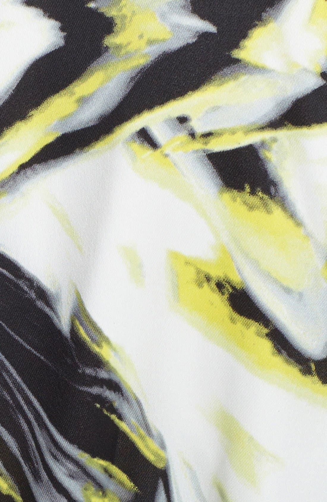 Alternate Image 3  - kensie Knit Sleeve Belted Print Twill Shirtdress