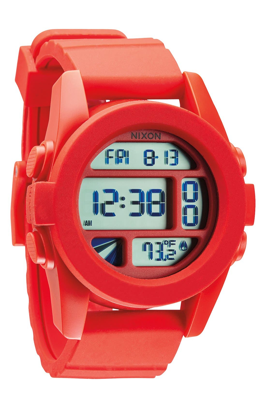 Alternate Image 1 Selected - Nixon 'The Unit' Round Digital Watch, 44mm