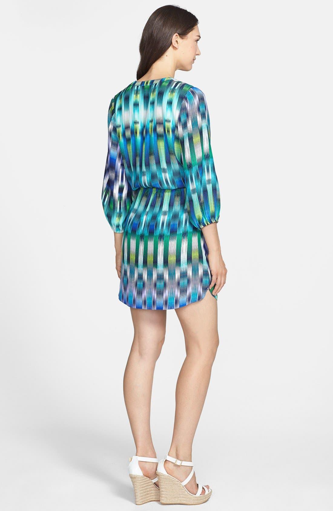 Alternate Image 2  - ALICE & TRIXIE 'Robin' Print Silk Shirtdress