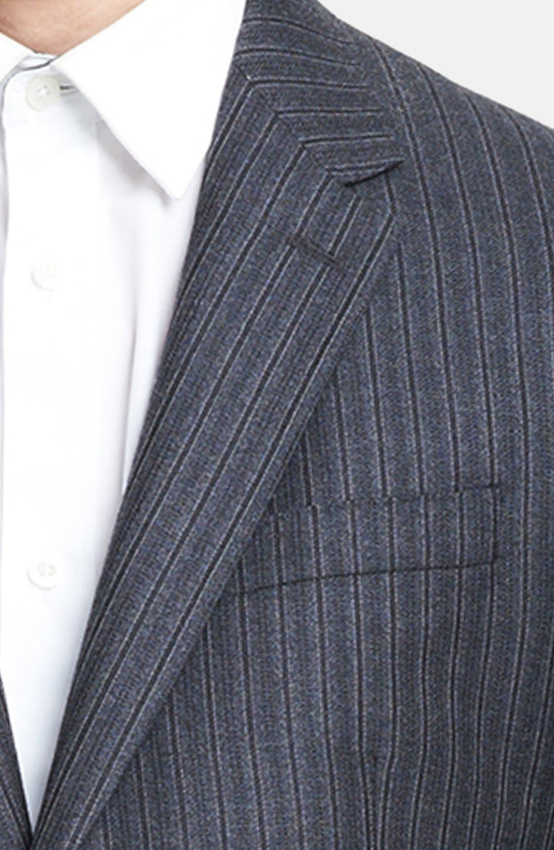 Alternate Image 2  - Burberry London Grey Stripe Wool Suit