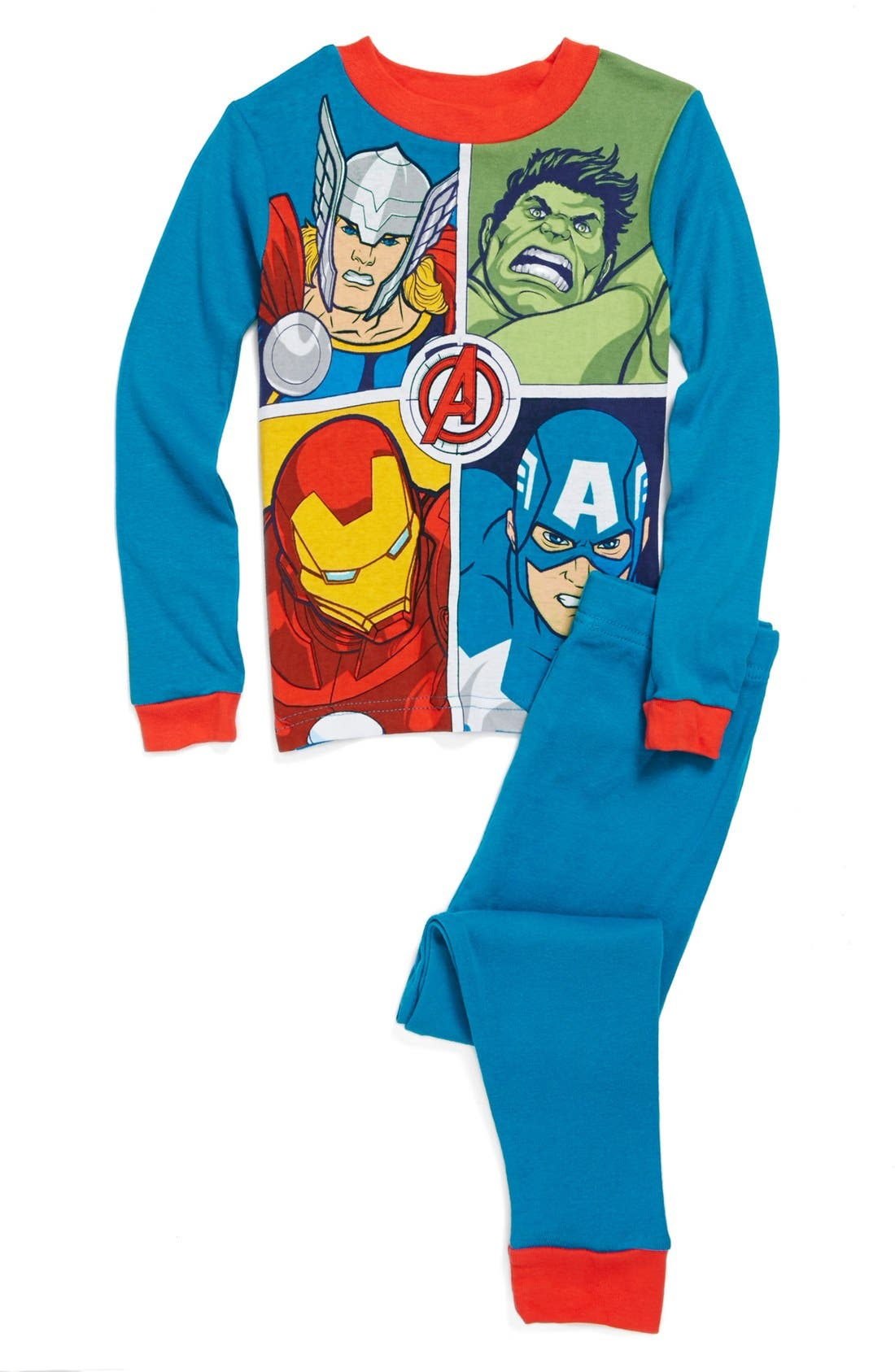 Alternate Image 1 Selected - Marvel® 'The Avengers™' Two-Piece Fitted Pajamas (Little Boys & Big Boys)