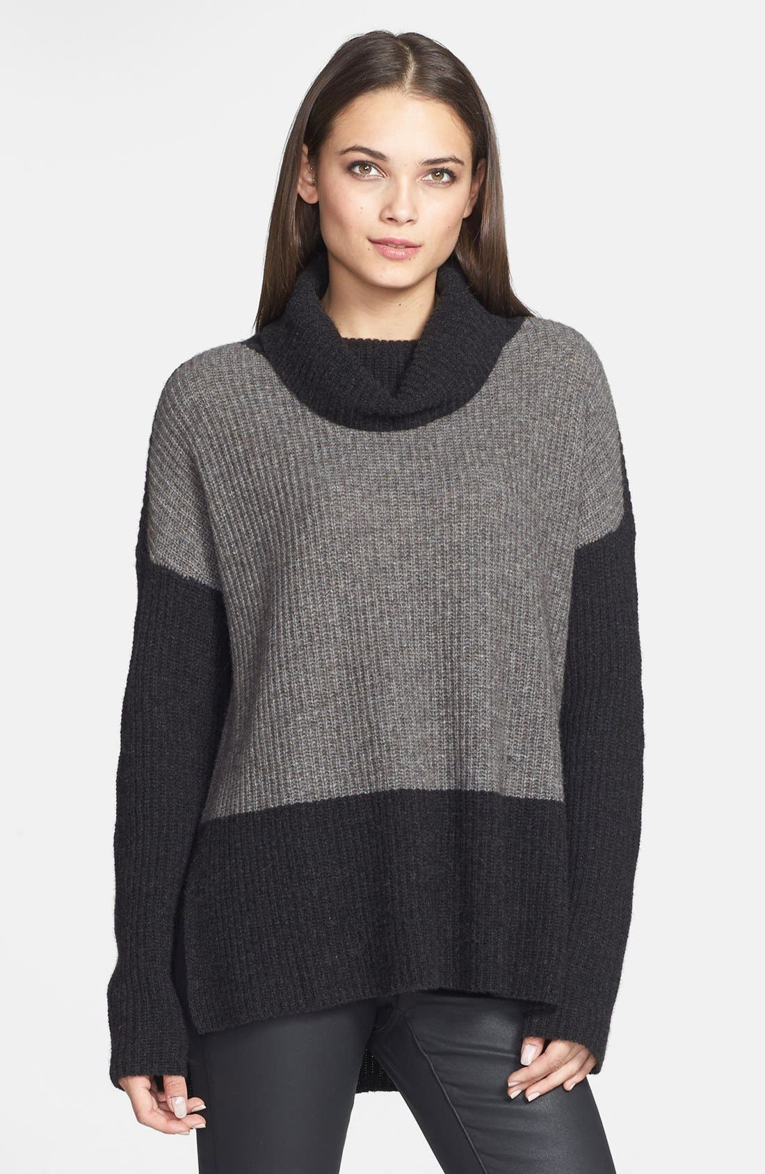 Main Image - Eileen Fisher Supersoft Yak Hair & Wool Turtleneck Sweater