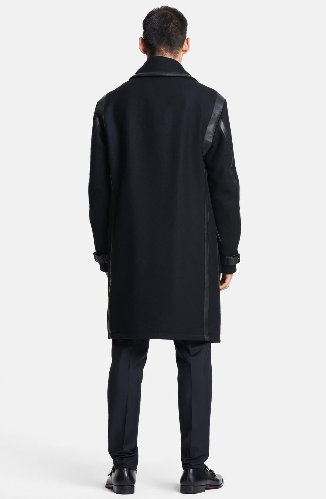 Alternate Image 2  - Salvatore Ferragamo Double Breasted Wool Coat
