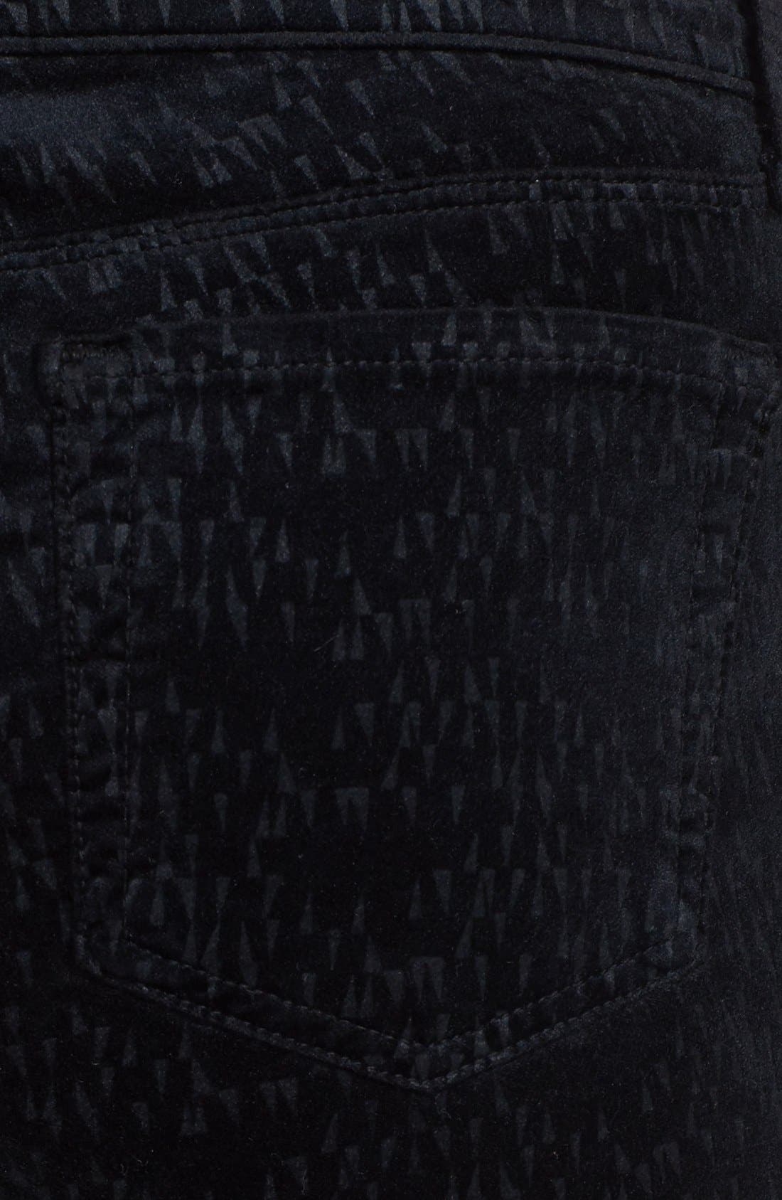 Alternate Image 3  - J Brand '815' Patterned Velvet Skinny Jeans