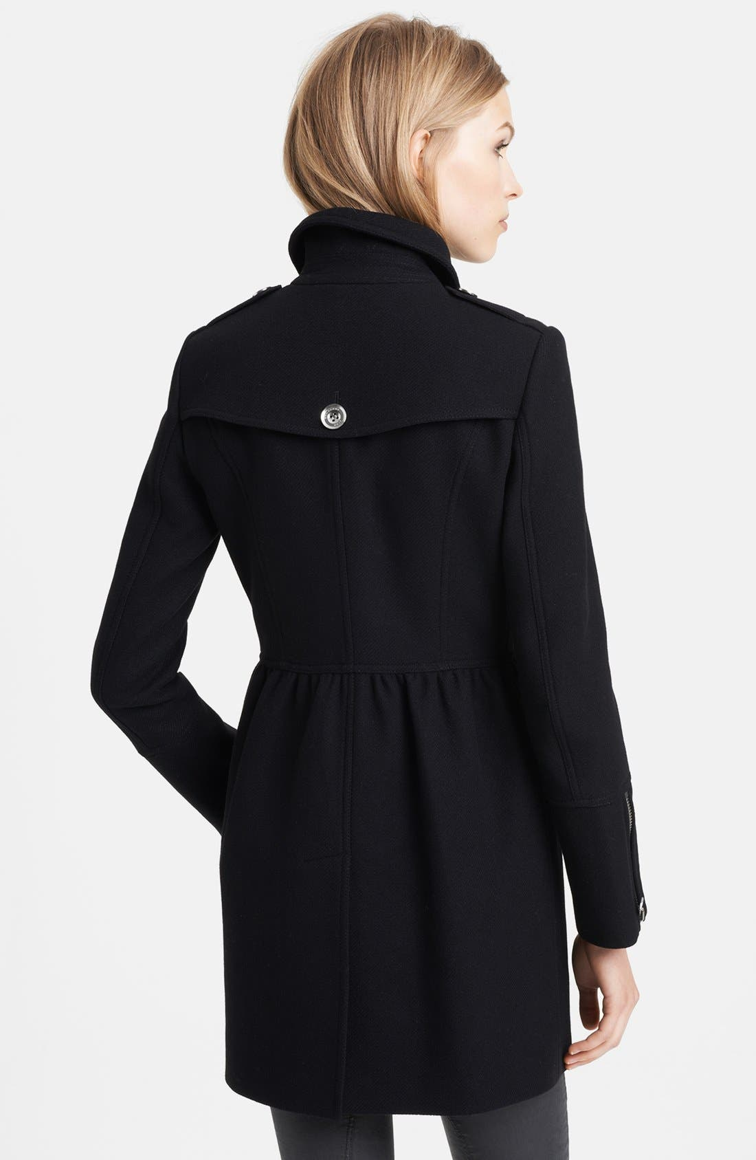 Alternate Image 2  - Burberry Brit 'Winsleigh' Double Breasted Military Coat