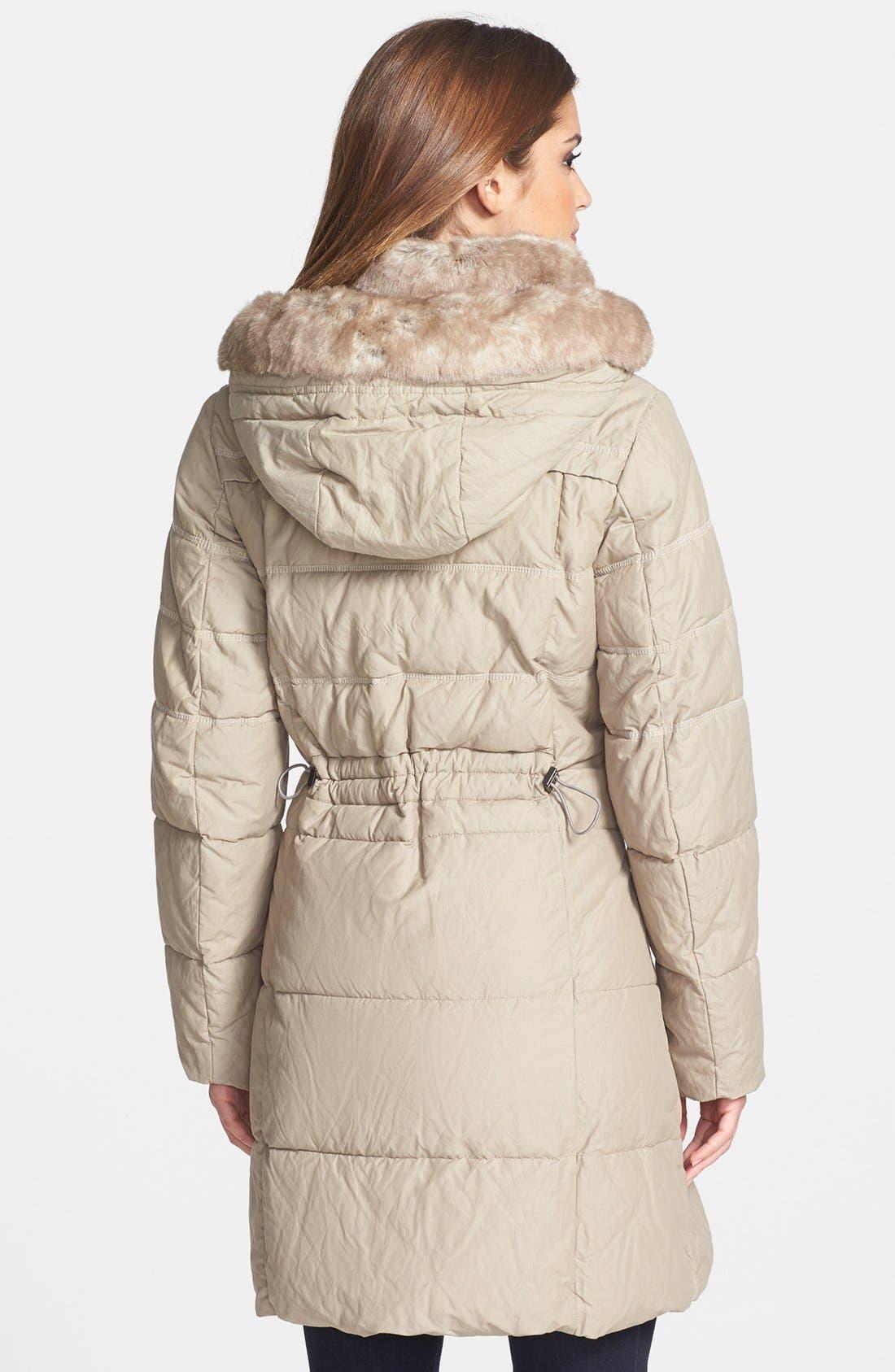 Alternate Image 2  - Hilary Radley Faux Fur Collar & Tuxedo Trim Quilted Coat