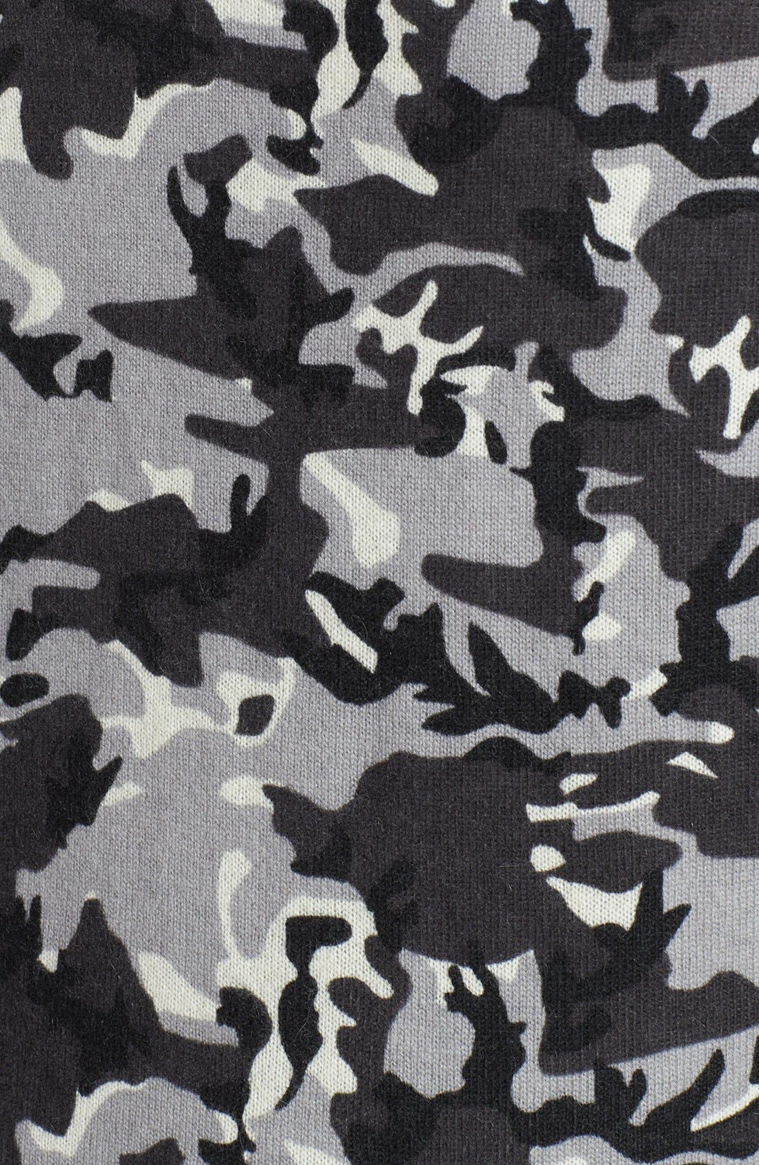 Alternate Image 3  - Halogen® Camo Print Wool Blend Pullover (Plus Size)