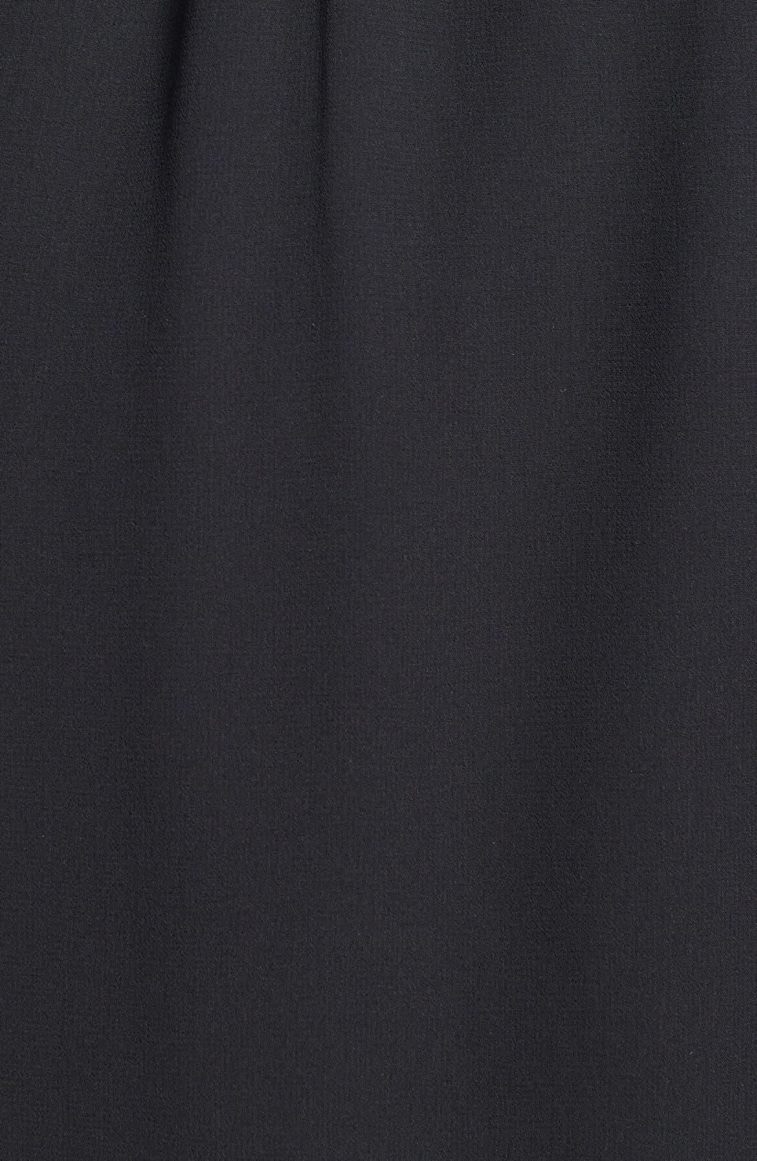 Alternate Image 3  - Donna Morgan Embellished Cuffs Faux Wrap Chiffon Dress