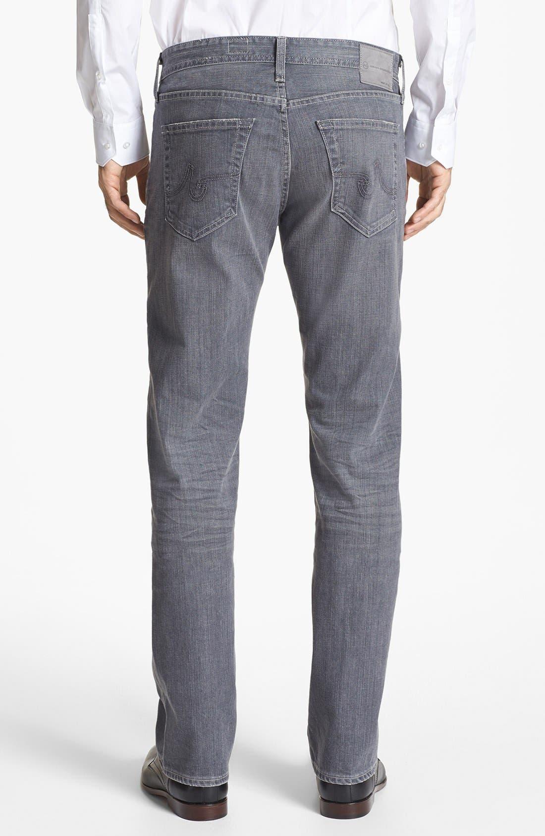 Alternate Image 2  - AG 'Protégé' Straight Leg Jeans (9 Years Grey)