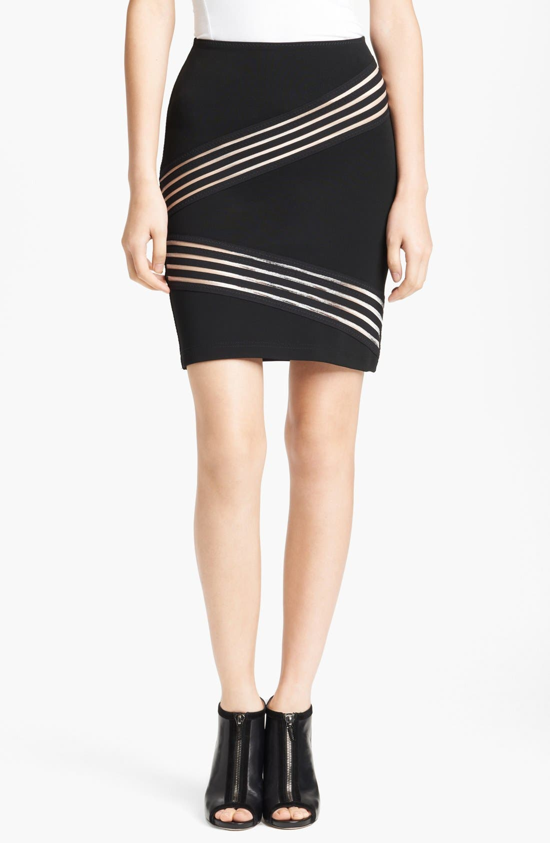 Alternate Image 1 Selected - Christopher Kane Tape Detail Pencil Skirt