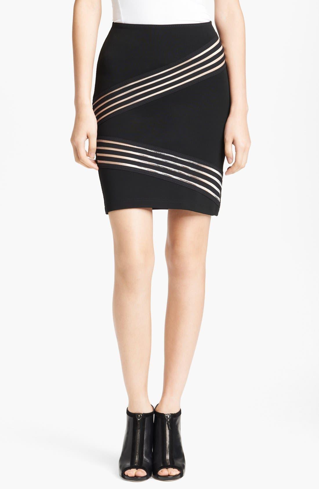 Main Image - Christopher Kane Tape Detail Pencil Skirt