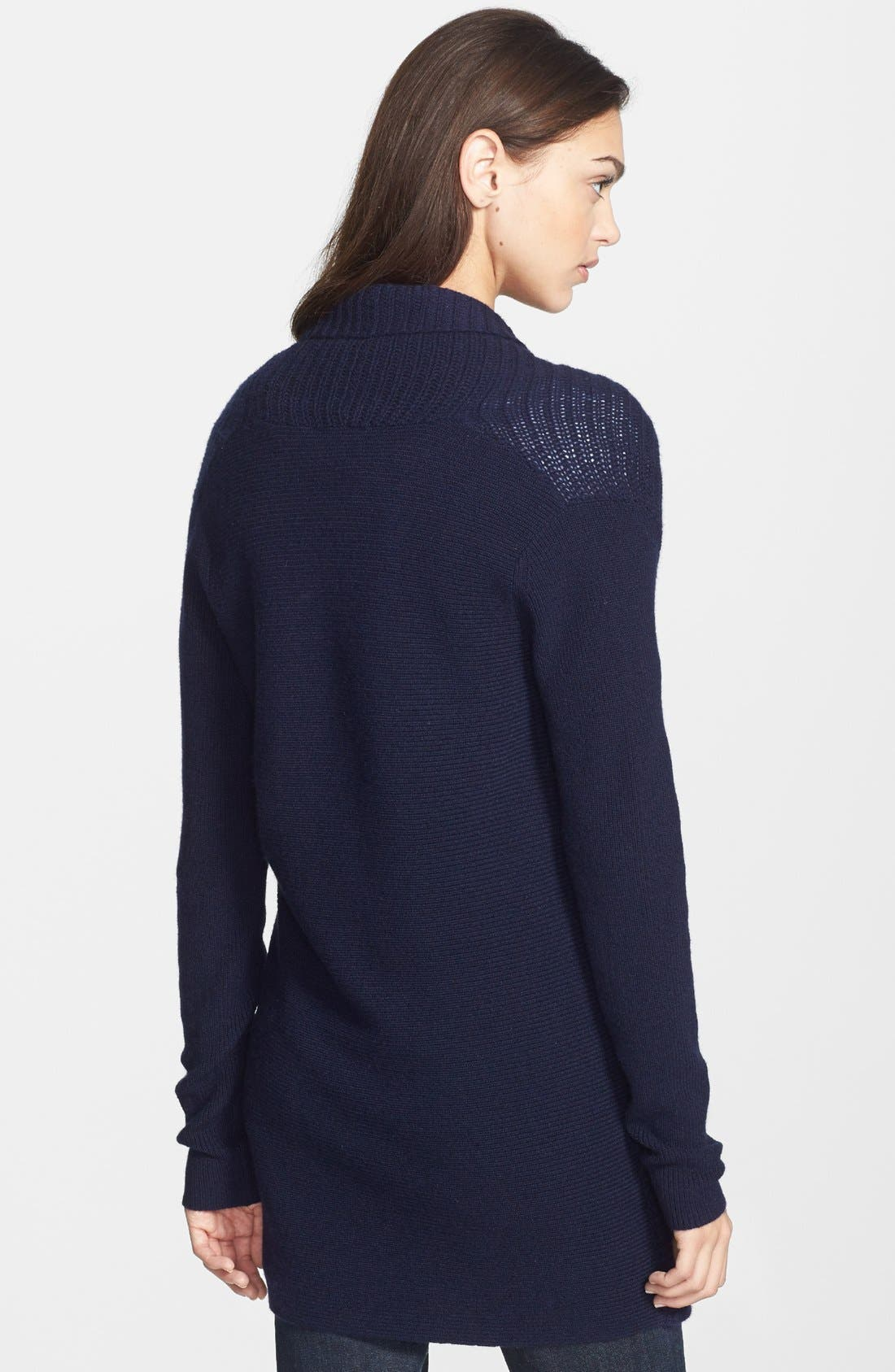 Alternate Image 2  - Theory 'Dantelle' Open Front Cashmere Cardigan
