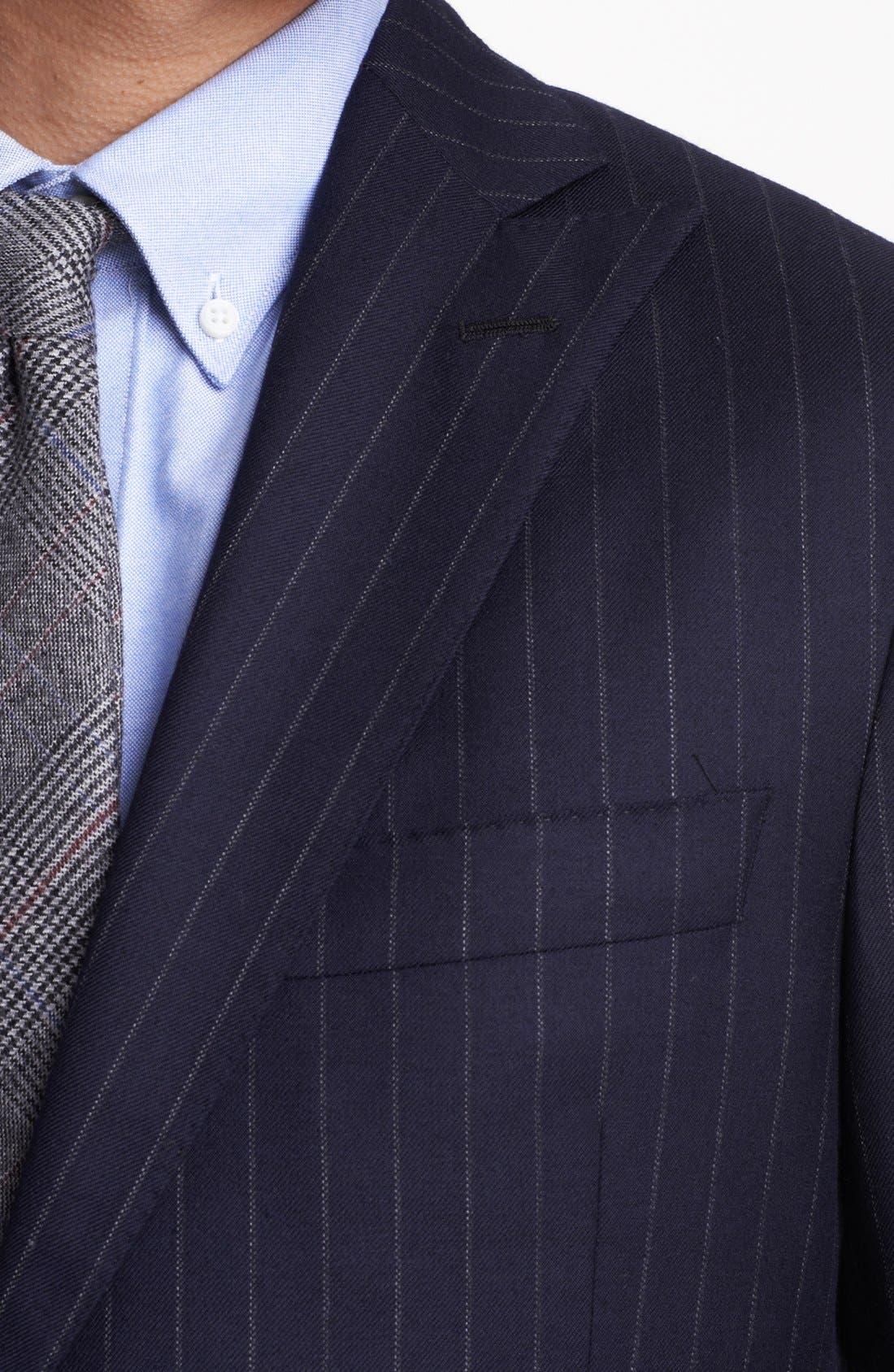 Alternate Image 2  - Todd Snyder Navy Pinstripe Wool Suit