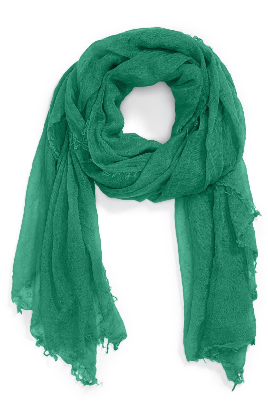 Alternate Image 1 Selected - Halogen® Crinkled Cashmere Wrap