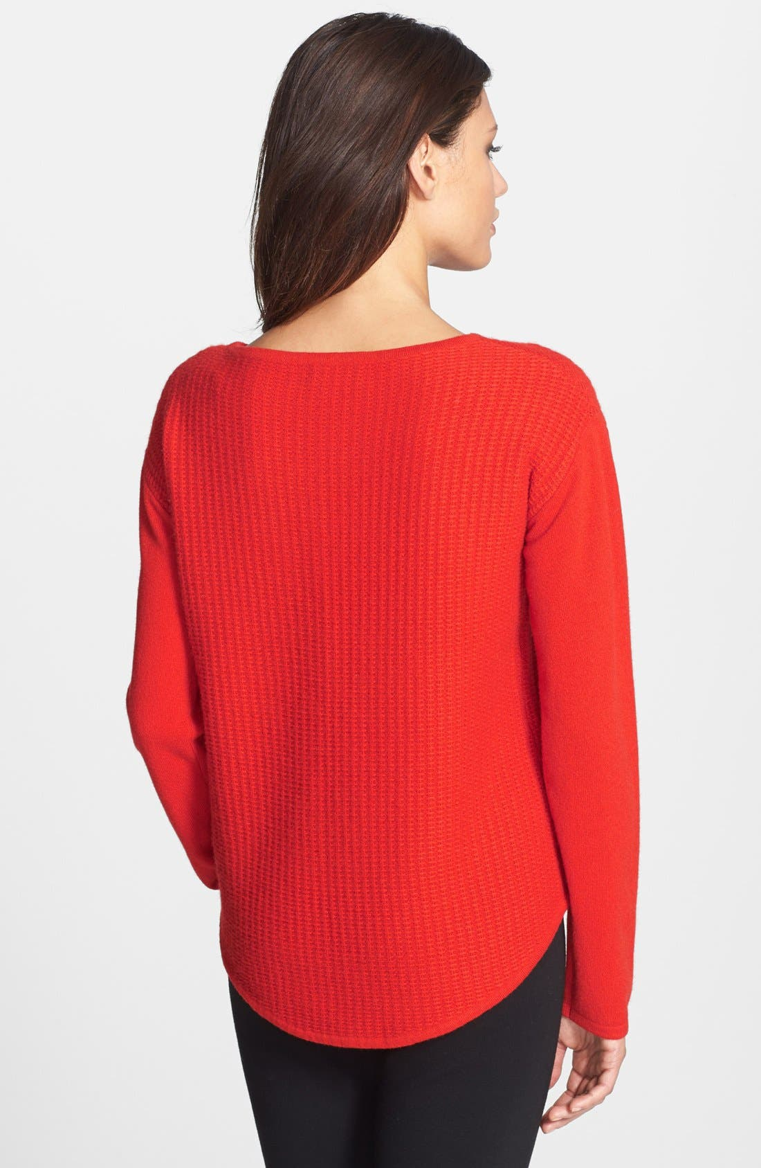Alternate Image 2  - Nordstrom Collection Textured Stitch Cashmere Boatneck Sweater